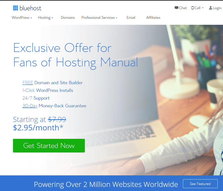 Bluehost WP Review