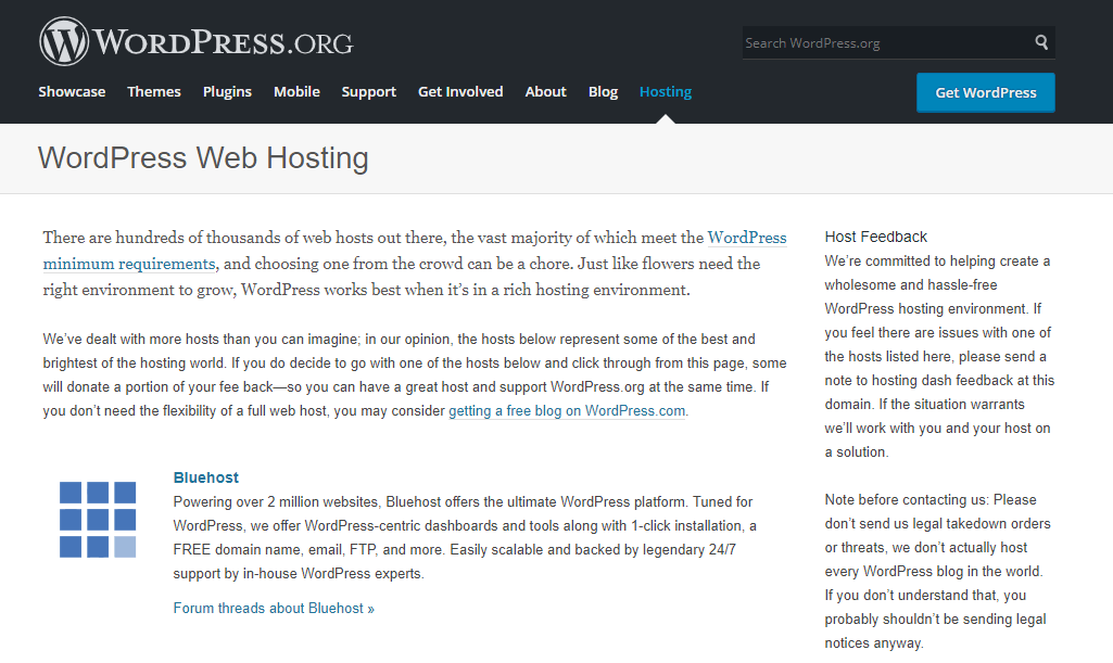 Bluehost - Wordpress Recommended