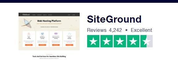 SiteGround Trustpilot Score