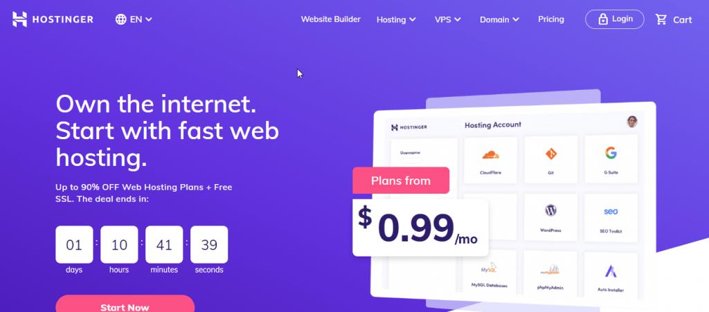 Hostinger best managed cloud hosting service