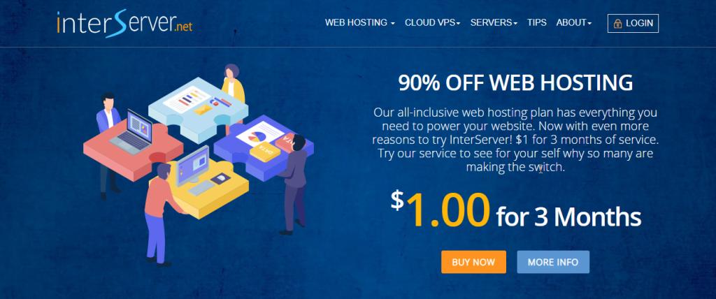 Interserver best managed cloud hosting service