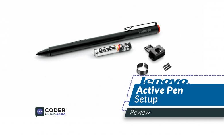 lenovo active pen setup for 1 and 2
