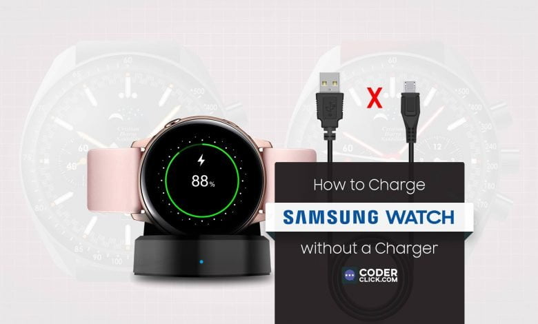 how to charge samsung watch without charger