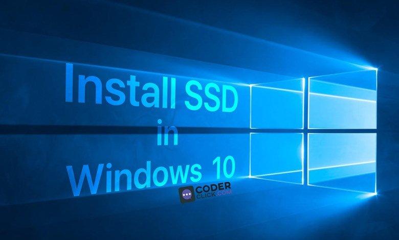 Install SSD in Windows 10