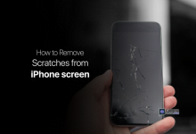 how to remove scratches from iphone screen